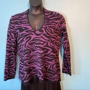 Dana Buchman animal print sweater